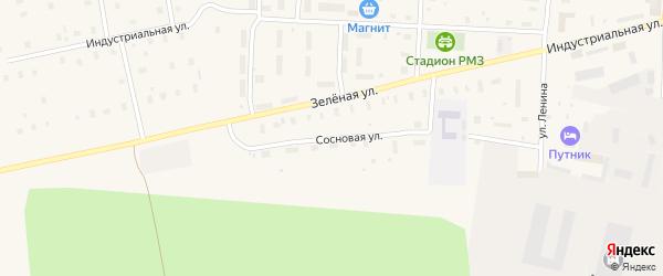 Сосновая улица на карте поселка Плесецка с номерами домов