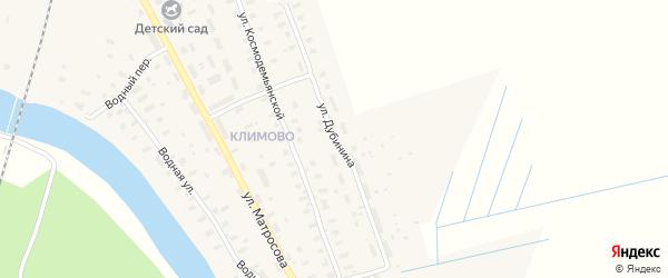 Улица Дубинина на карте поселка Шалакуши с номерами домов