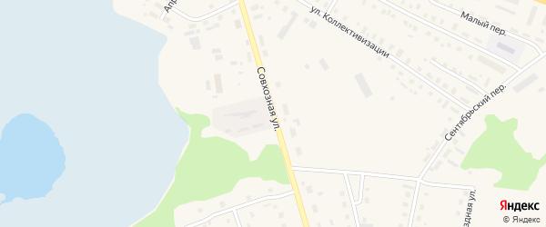 Совхозная улица на карте поселка Коноши с номерами домов