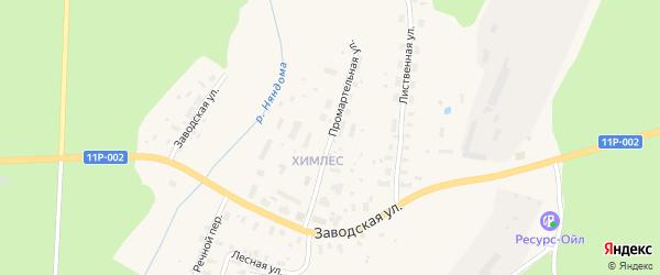 Промартельная улица на карте Няндомы с номерами домов