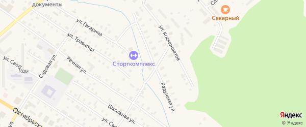 Радужная улица на карте поселка Коноши с номерами домов