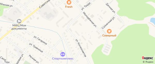 Улица Космонавтов на карте поселка Коноши с номерами домов