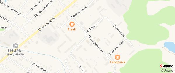 Улица Труда на карте поселка Коноши с номерами домов