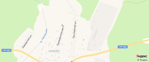 Лиственная улица на карте Няндомы с номерами домов