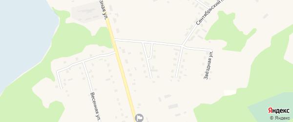 Юбилейный переулок на карте поселка Коноши с номерами домов