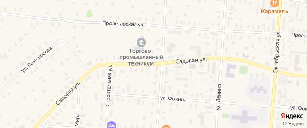 Садовая улица на карте поселка Плесецка с номерами домов