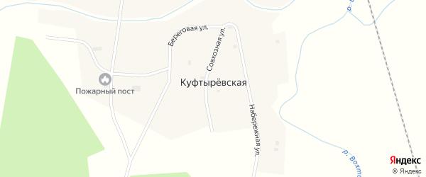 Набережная улица на карте Куфтыревской деревни с номерами домов