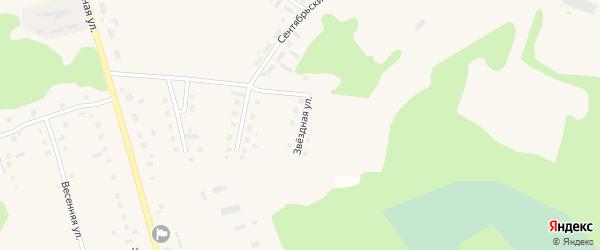 Звездная улица на карте поселка Коноши с номерами домов