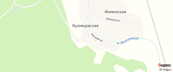 Речная улица на карте Кузнецовской деревни с номерами домов