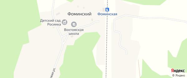 Луговая улица на карте Фоминского поселка с номерами домов