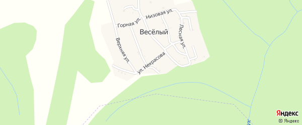 Улица Некрасова на карте хутора Веселый (Каменномостский птт) с номерами домов