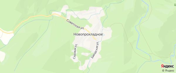 Карта Новопрохладного села в Адыгее с улицами и номерами домов