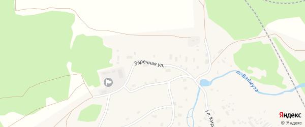 Заречная улица на карте Обозерского поселка с номерами домов