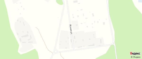 Ясная улица на карте Няндомы с номерами домов