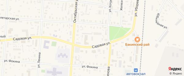 Садовая улица на карте садового некоммерческого товарищества Садоводы Севера сад N6 с номерами домов