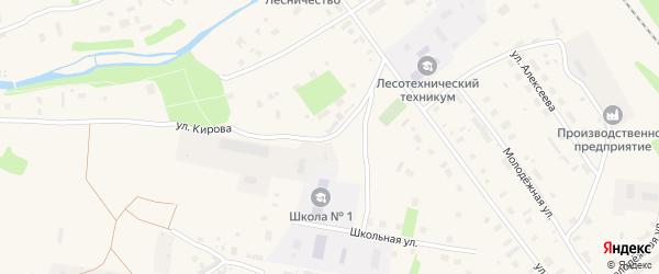 Улица Кирова на карте Обозерского поселка с номерами домов