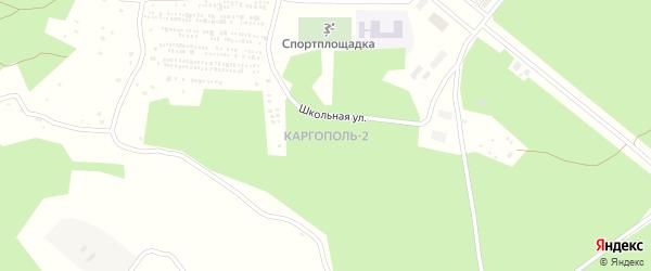 Лесная улица на карте микрорайона Каргополя-2 с номерами домов