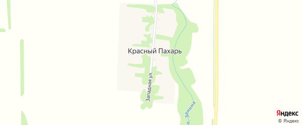 Западная улица на карте хутора Красного Пахаря с номерами домов