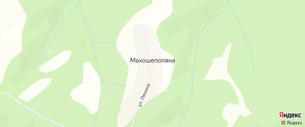 Карта хутора Махошеполяна в Адыгее с улицами и номерами домов