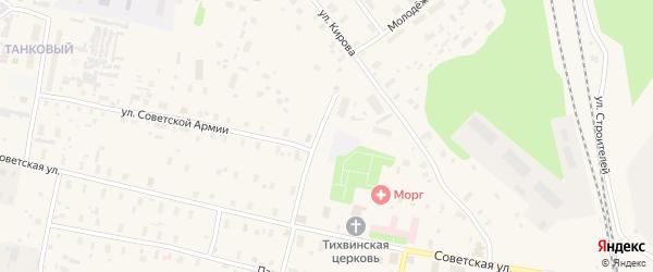 Улица КЭЧ на карте Обозерского поселка с номерами домов