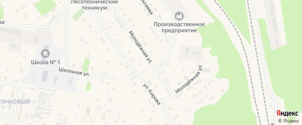 Молодежная улица на карте Обозерского поселка с номерами домов