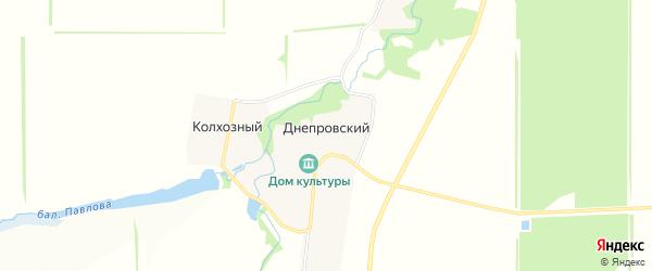 Карта Днепровского хутора в Адыгее с улицами и номерами домов
