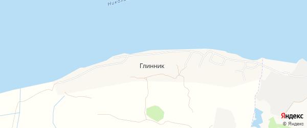 Карта деревни Глинника в Архангельской области с улицами и номерами домов