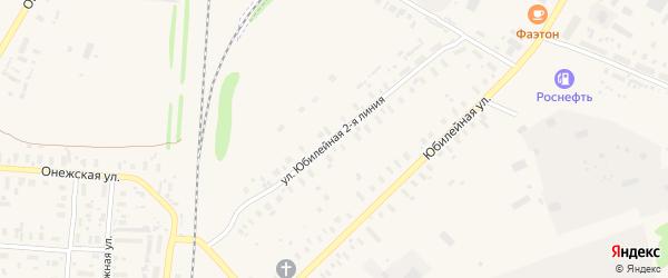 Восточная 2-я улица на карте поселка Плесецка с номерами домов