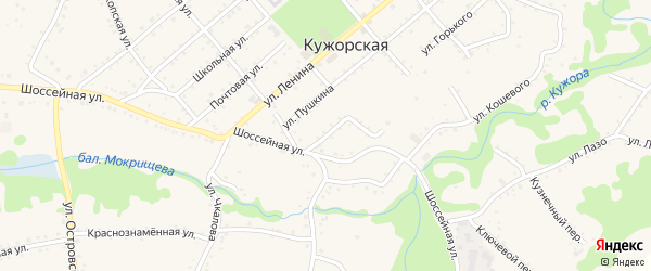 Улица Карла Маркса на карте Кужорской станицы с номерами домов