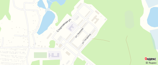 Улица Чкалова на карте микрорайона Каргополя-2 с номерами домов