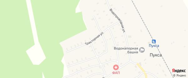 Тракторная улица на карте поселка Пуксы с номерами домов