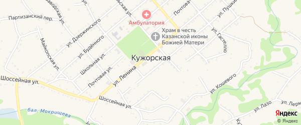 Банный переулок на карте Кужорской станицы с номерами домов