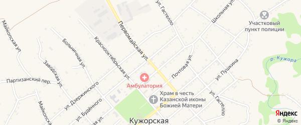 Первомайская улица на карте Кужорской станицы с номерами домов