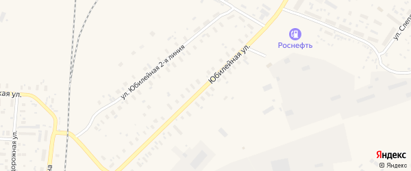 Юбилейная улица на карте поселка Плесецка с номерами домов