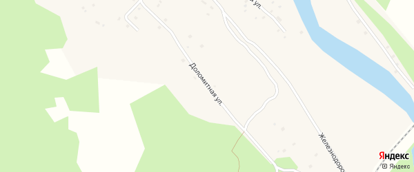 Доломитная улица на карте поселка Реки Емца с номерами домов