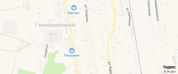 Улица Гагарина на карте Обозерского поселка с номерами домов