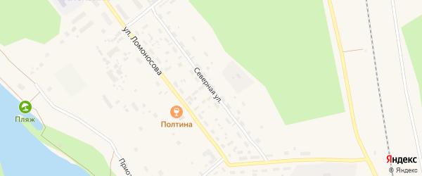 Северная улица на карте Обозерского поселка с номерами домов