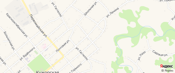 Улица Толстого на карте Кужорской станицы с номерами домов