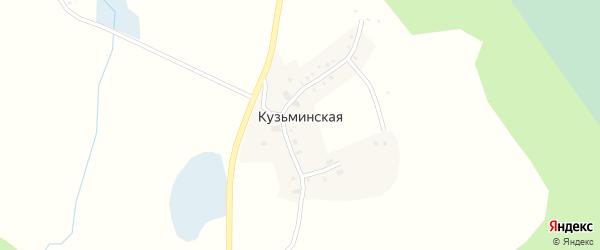 Дачная улица на карте Кузьминской деревни с номерами домов