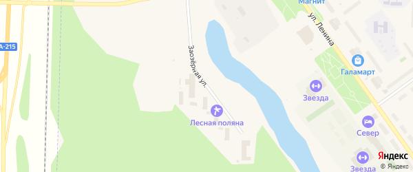 Заозерная улица на карте Мирного с номерами домов