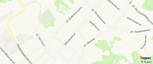 Улица Матросова на карте Кужорской станицы с номерами домов