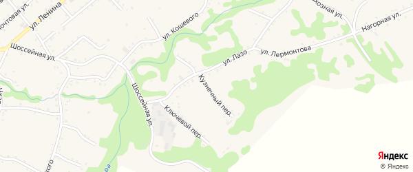 Кузнечный переулок на карте Кужорской станицы с номерами домов