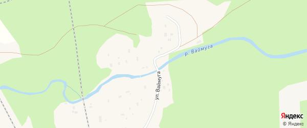 Улица Ваймуга на карте Обозерского поселка с номерами домов