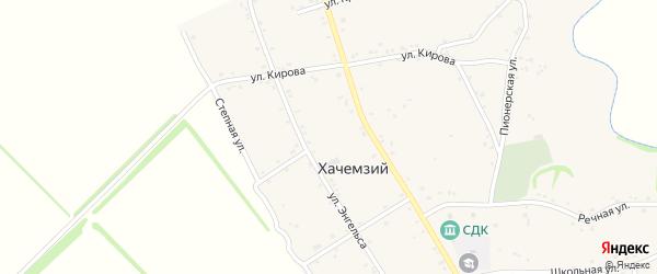 Улица Лермонтова на карте Хачемзия аула с номерами домов