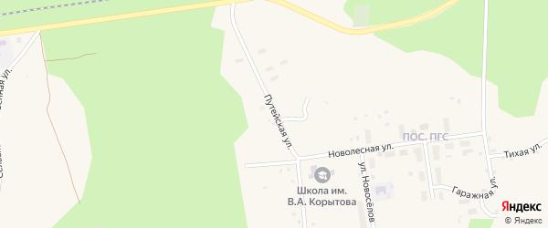 Путейская улица на карте поселка Коноши с номерами домов