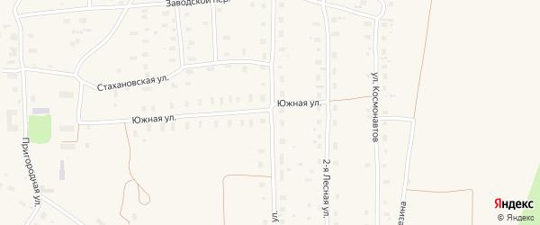 Восточная улица на карте поселка Плесецка с номерами домов