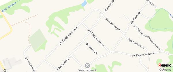 Школьная улица на карте Кужорской станицы с номерами домов