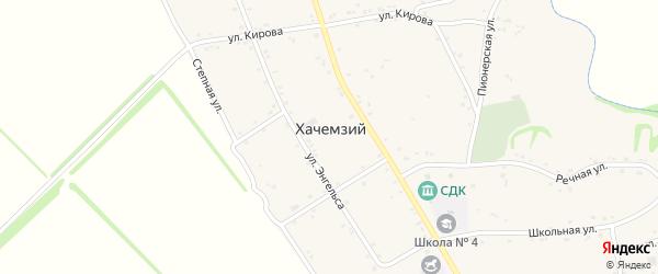 Дорога А/Д Подъезд к а. Хачемзий на карте Хачемзия аула с номерами домов