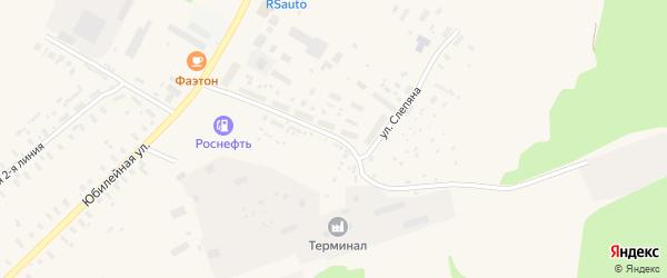 Улица Слепяна на карте поселка Плесецка с номерами домов