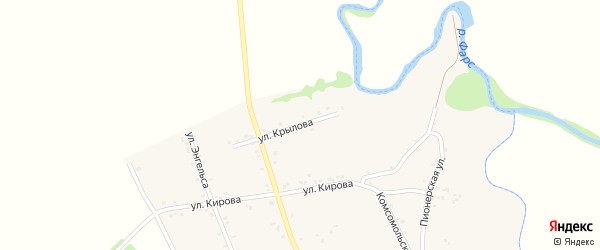 Улица Крылова на карте Хачемзия аула с номерами домов